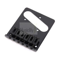 Musiclily Black 6 String Electric Guitar Bridge For Fender Tele Telecaster Style