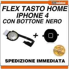 Tasto HOME Per Apple IPHONE 4 Flex Flat Ricambio Pulsante BOTTONE NERO - POSTA1