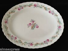 PG Pope Gosser LARGO #3195 CCP China Pink Flowers Leaves OVAL SERVING PLATTER