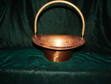 Vintage Handcrafted Hand Forged Copper Basket with handle