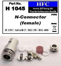 1 Stück N-Buchse für H 155 / Aircell 5 / RG 58 Koaxkabel 50 Ω (H1045)