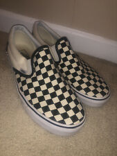 Vans CLASSIC SLIP-ON BlackOnBlack/BlackWhite Canvas Shoes All Size Fast Shipping