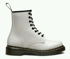 Dr Martens 1460 W 8 Eyelet Patent Leather Boots Women's US 5 White NEW