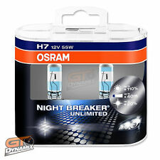 H7 Osram Night Breaker Unlimited Headlight Globes (TWIN SET) 64210NBU-HCB EXPRES