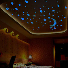 A Set In The Dark Luminous Fluorescent Wall Stickers Kids Bedroom 3D Stars Glow