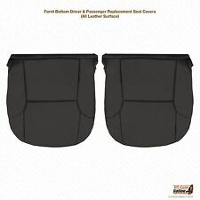 2006 2007 2008 Toyota 4Runner Driver & Passenger Bottom Leather Seat Cover Black