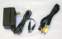 AC Adaptor Power Supply and AV Cable Cord Bundle for Sega Genesis 1 - Old Skool