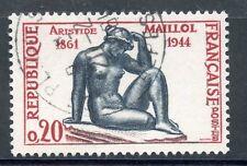 """STAMP / TIMBRE FRANCE OBLITERE N° 1281 SCULPTEUR ARISTIDE MAILLOL """"LA PENSEE"""""""