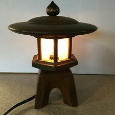 Asian Lamp Nightstand, Desk, Table, Wood Light Home Decor'