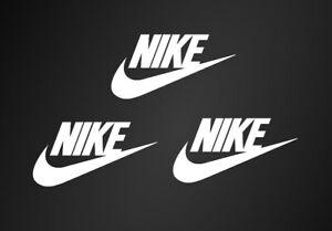 "3 Nike Iron On Name and Swoosh White Logos 2"" Inch Vinyl HTV FREE SHIPPING!"