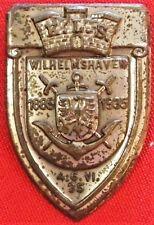 * PRE WW2 GERMAN TOWN WILHELMSHAVEN 50TH ANNIVERSARY BADGE  *