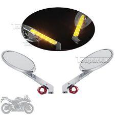 LED Turn Signal Rearview Mirrors Fit Kawasaki Vulcan 800 900 1500 1600 1700 2000