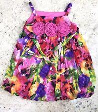 Bonnie Jean Girls 3T 3 Years Floral Dress Bright Multicolourd