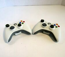 Lot of 2 MICROSOFT Xbox 360 Wireless Controllers