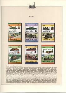 St. Lucia Lokomotiven Ausgabe 1 - 5 kompl. mit Abart siehe Scan