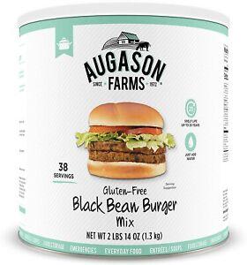 Augason Farms Gluten Free Vegetarian Meat Black Bean BURGER Emergency Meal Food