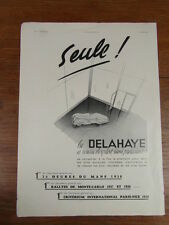 PUBLICITE PRESSE ANCIENNE VINTAGE ADVERT / AUTOMOBILES DELAHAYE 1939