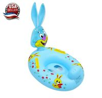 Rabbit bunny baby toddler kids Swimming inflatable pool float raft seat ring Toy
