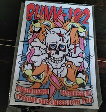 Blink 182 Rock Band Fabric Style Wall Sign New
