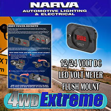 NARVA QUALITY LED VOLT METER GAUGE 6-33V FOR DUAL BATTERY SYSTEMS ETC   81135BL