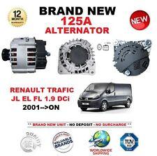 FOR RENAULT TRAFIC JL EL FL 1.9 DCi 2001-ON 125A ALTERNATOR with CLUTCH PULLEY