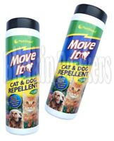 2 X CAT AND DOG DETERRENT NON TOXIC REPELLER KEEP OFF GARDEN OUTDOOR POWDER