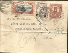 J) 1923 MEXICO, IMMEDIATE DELIVERY, JUAN ALDAMA, MULTIPLE STAMPS, AIRMAIL, CIRCU