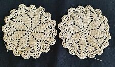A3 Vintage Small Crochet Doilies Linens Trim Doily Dolls Doll Dollhouse Rug