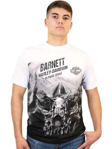 Harley-Davidson Mens Sublimated Unleashed Power Skull White Short Sleeve T-Shirt