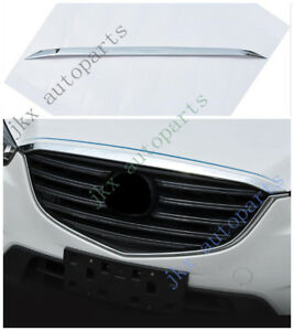 ABS Chrome Front Bumper Vent Hood Grille Grill Trim k Fit For Mazda CX-5 2016