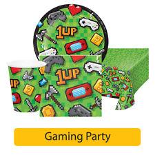 GAMING Birthday Party Range - Computer Gamer Boy Girl Tableware & Decorations