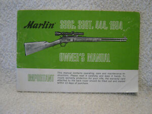 MARLIN 336 C T 444 1894 owner manual