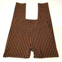 LuLaRoe Womens Leggings Orange Green Geometric Print One Size(OS)