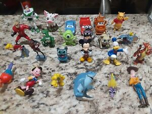 Disney Figurines Lot of 25 Mixed Characters , Cars, Toy Story, Incredibles more!