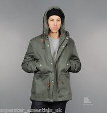 Y NUOVO con etichetta ADIDAS Originals lungo giù Parka Parker giacca cappotto verde XL Fishtail a coda