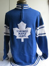Toronto Maple Leafs Cotton Sweater - Partial Zipper Front - NWT - Men's Large