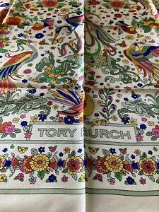 Tory Burch Promised land silk square Scarf OS