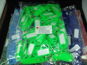 200 St. Schlüsselanhänger Schlüsselschilder zum beschriften Farbe nach Wahl, top