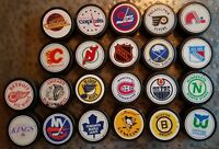 VINTAGE NHL TEXACO LOT OF 22 TEAM SET HOCKEY Game PUCK VICEROY  MADE IN CANADA