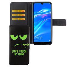 Huawei Y7 2019 Hülle Case Handy Cover Schutz Tasche Flip Schutzhülle Wallet Grün