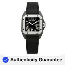 Cartier Santos recubierto de carbono Dial Negro Reloj Para Dama Automático Ref. 2878