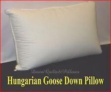 1 X FIRM KING SIZE PILLOW - 95% HUNGARIAN GOOSE DOWN 5% HUNGARIAN GOOSE FEATHERS