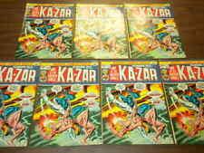 7 issues ASTONISHING TALES/KA-ZAR #17 Marvel Comics 1973 dealer/investor lot