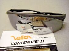 Vallen 068542 Contender Ii Black & Silver Safety Glasses Scratchcoat