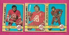 1972-73 OPC ATLANTA FLAMES CARD  LOT (INV# C2729)