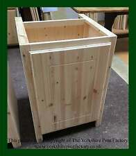 Traditional Handmade Solid Pine Kitchen Full Door Base unit (various sizes)
