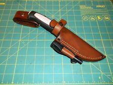 Custom Leather Sheath Fits MORA Pro S, C and Robust Knife, RH  Dangle, Ferro Rod