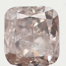 0.16 Ct Natural Loose Diamond Cushion Brown 3.00X2.80X1.90MM I2 Clarity L2876