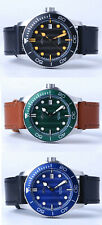Heimdallr Trident Shark Wave Pattern Dial NH35 Automatic Dive 300M Watch 43mm C3