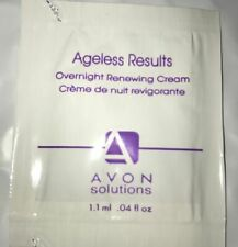 Avon Solutions Ageless Results Overnight Renewing Cream - Samples x 5 - HOLIDAYS